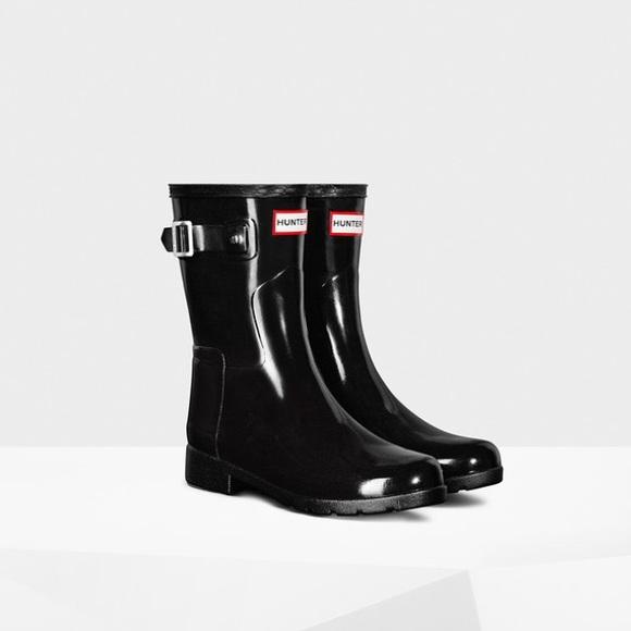ec7c3ff50982 Hunter Boots Shoes - Women s Original Short Refined Gloss Rain Boot